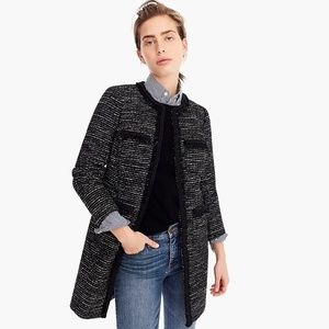 Tweed Lurex® lady coat with braided trim